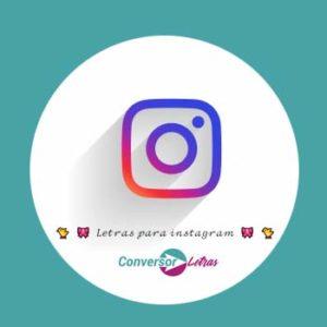 letras para instagram
