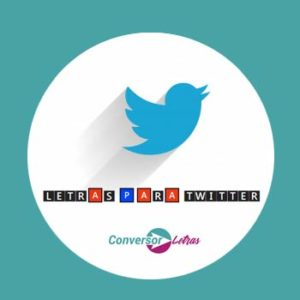 letras para twitter
